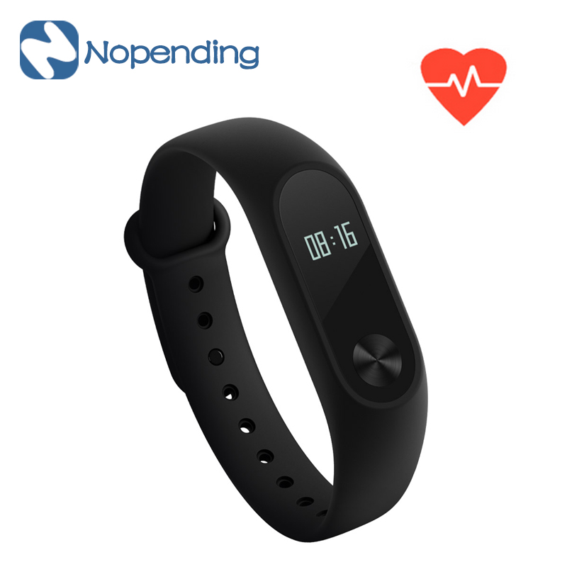IN STOCK! New Original Xiaomi Mi Band 2 Smart Heart Rate Fitness Miband Wristband 2 OLED Display IP67 For Android 4.4 iOS 7.0