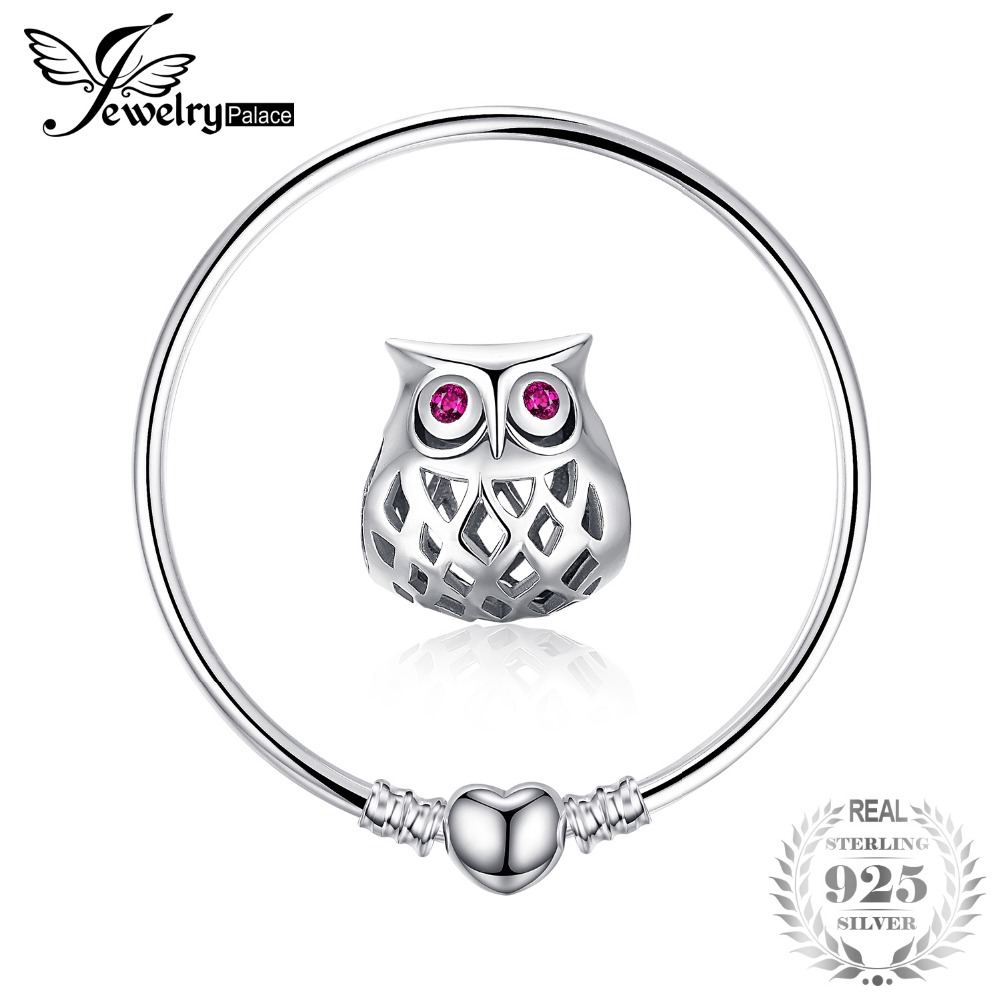 Jewelrypalace 925 Sterling Silver Bracelets Elegant Heart Beads Bracelet Bangle Gifts For Women Anniversary Fashion Jewelry