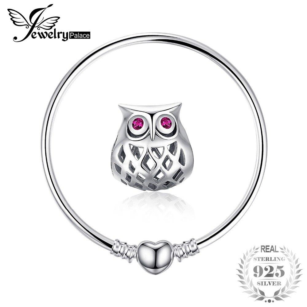 Jewelrypalace 925 Sterling Silber Armbänder Elegante Herz Perlen Armband Armreif Geschenke Für Frauen Jahrestag Mode Schmuck
