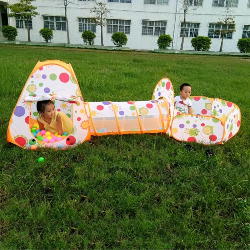 3 în 1 Copii Piscină-Tube-Teepee Corturi de jucării Pop-up Copii - Sport și în aer liber