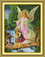 Angel convoy Counted 11CT Printed 14CT DMC Cross Stitch Set DIY Chinese Cotton Cross stitch Kit Embroidery Needlework