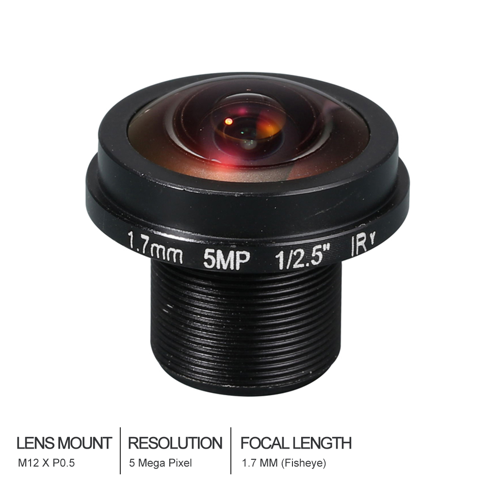 Witrue HD Fisheye  CCTV Lens 5MP 1.7MM M12*0.5  Mount 1/2.5  F2.0  180 degree for IP Security CCTV CamerasWitrue HD Fisheye  CCTV Lens 5MP 1.7MM M12*0.5  Mount 1/2.5  F2.0  180 degree for IP Security CCTV Cameras