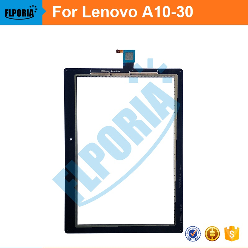 Tablet Touch Panel 10.1'' Inch For Lenovo A10-30 Touch Screen Digitizer Glass with Flex Cable Assembly 100% New newest 1 way 1 gang crystal glass panel smart touch light wall switch remote controller gold ac110v 240v low price