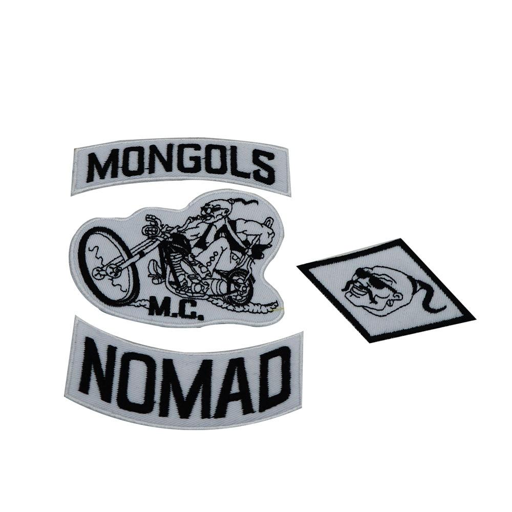 Lone Wolf Biker Black PVC Hook Military Morale Patch Biker Nomad