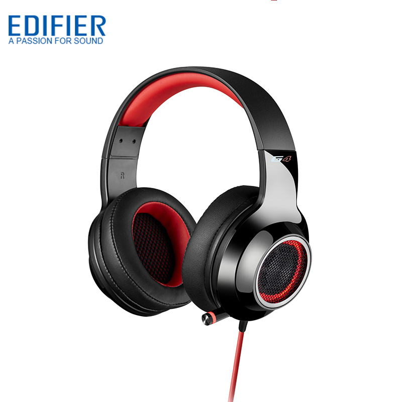 EDIFIER G4 Gaming Earphone Built in Sound Card Headphones Dynamic Stereo Gaming Headset With Microphone And