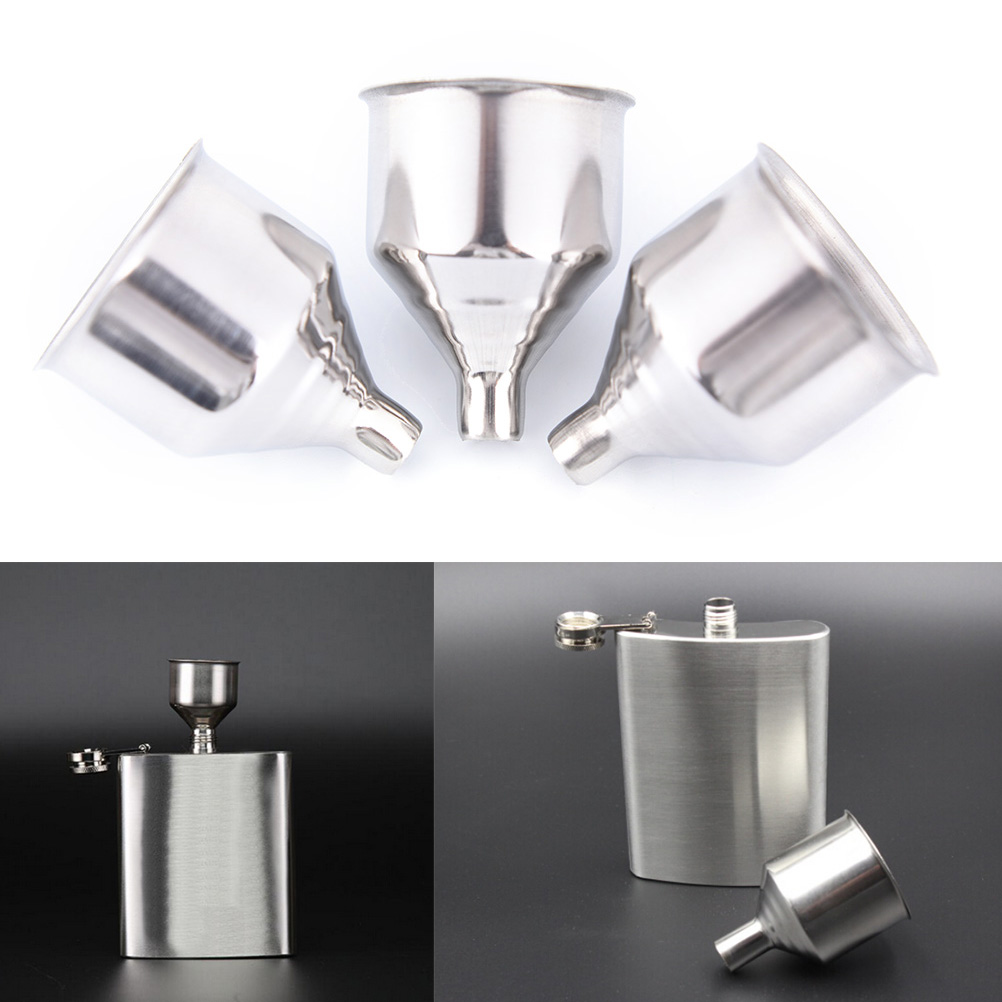 Kitchen Tool Oil Funnel For All Hip Flasks High Quality Stainless Steel Funnel
