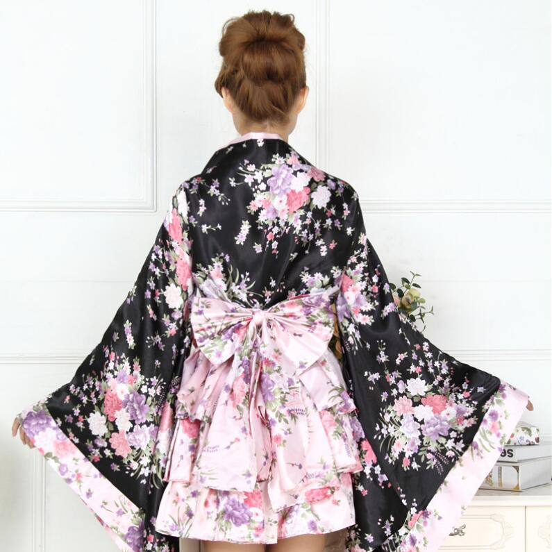 Japan Woman bathrobe Japan lady kimono Traditional kimono Stage performance dess cosplay tool