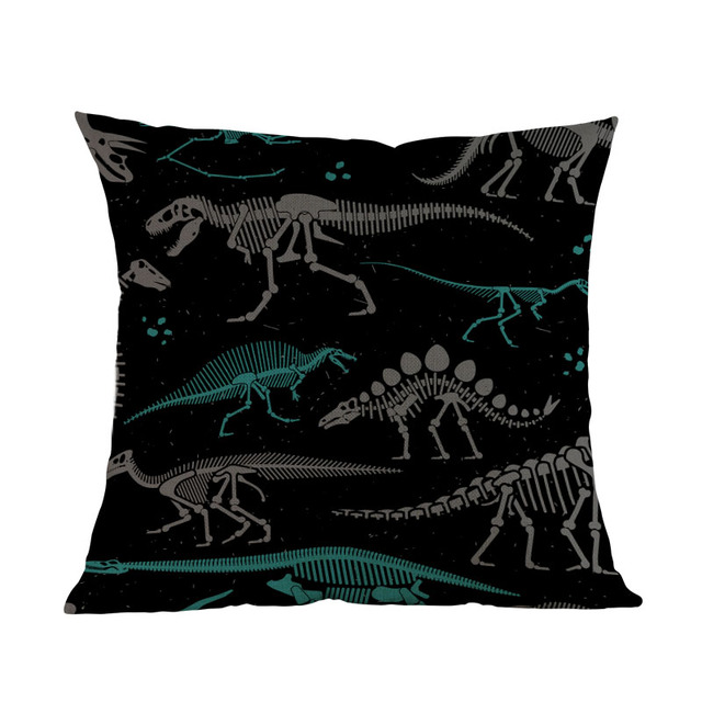 Dinosaurs Skeletons Cushion Cover