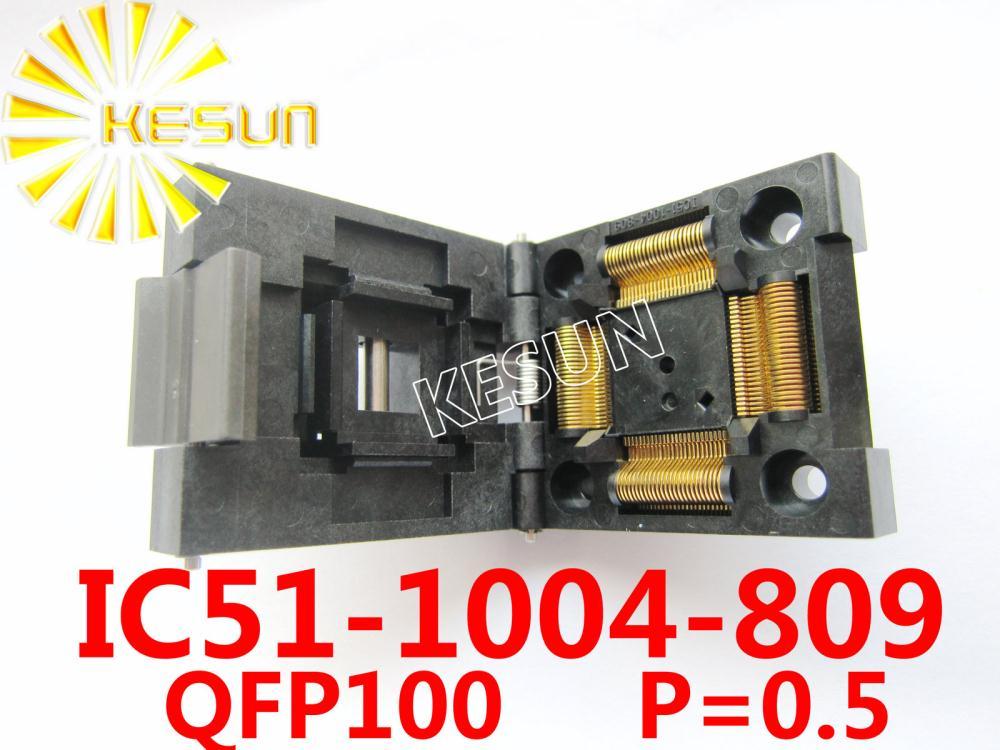 IC51-1004 d'origine QFP100 TQFP100 IC connecteur de prise de Test/adaptateur de programmeur/connecteur de prise de rodage (IC51-1004-809)