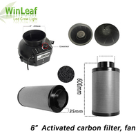 8 Inch Centrifugal Fans&Activated Carbon Air Filter for GreenHouse Grow Tent Hydroponic LED HPS/MH Grow Light