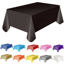 11 Colors Tablecloth Table Cover 137x138cm Rectangle Party Theme Linen New Solid Plastic Waterproof Table Cloth(China)
