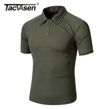 TACVASEN Sommer Männer t Shirts 2016 Neue Mode Tops Tees Kurzarm T-shirt Jagd Umlegekragen T hemd TD-YCXL-005-1