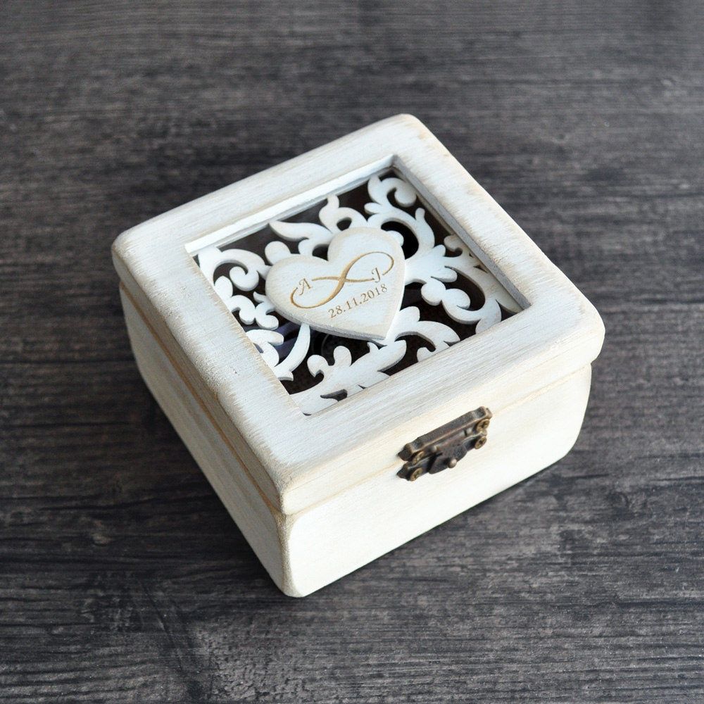 wedding ring box personalized wedding ring box ring bearer box engagement 9935