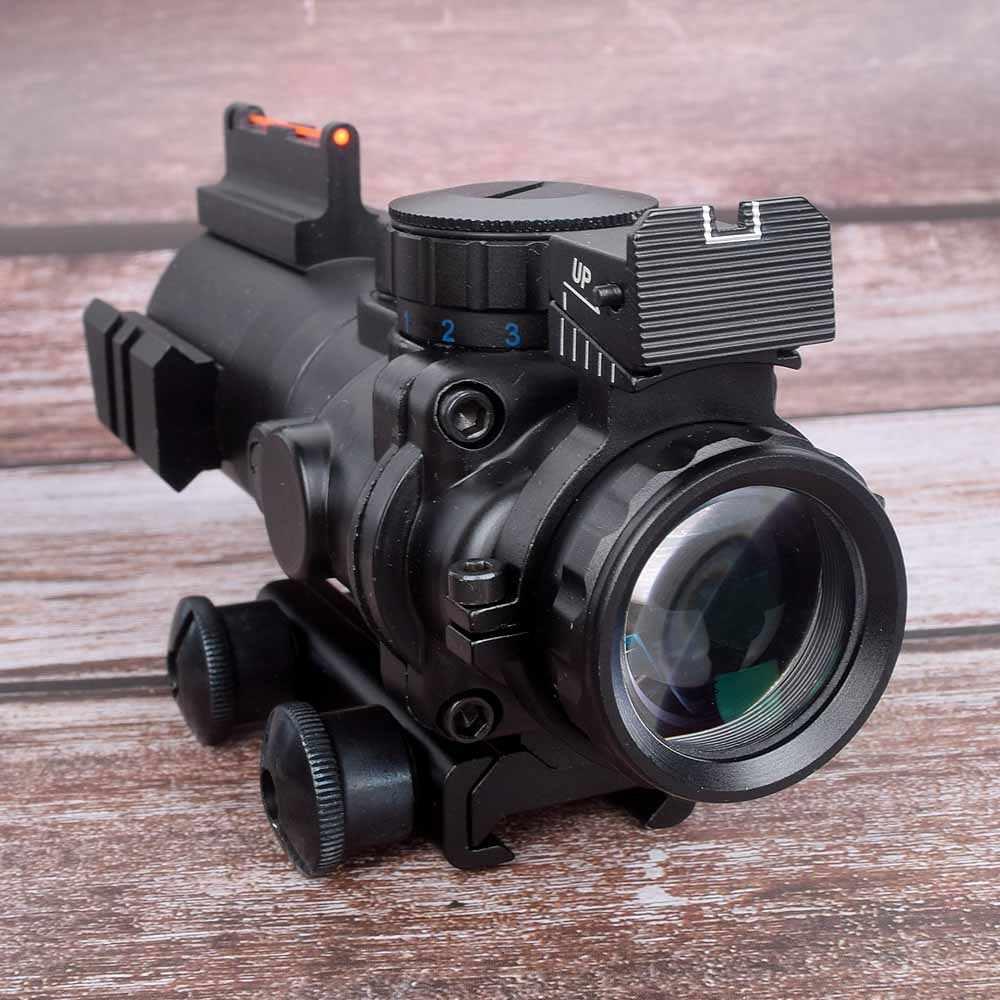 Mira telescópica de caza de 4x32, mira telescópica de 20mm con reflejo óptico para Rifle de caza, Rifle, lupa de francotirador Airsoft