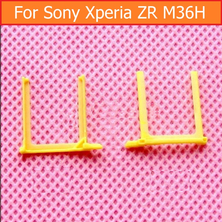 Genuine Sim Card Tray Holder For Sony Xperia ZR M36H M36i C5502 C5503 Sim Card Slot Tray For Sony M36h Sim Card Reader Holder