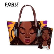 FORUDESIGNS Purse&Handbags Women 2pcs/set Travel Hand Bag La
