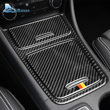 Airspeed for Mercedes Benz A Class CLA GLA Accessories 2013-18 Carbon Fiber Car Interior Center Console Panel Cover Trim Sticker 1