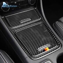 Airspeed для Mercedes Benz A класс cla GLA аксессуары 2013-18 карбоновое волокно автомобиля центральная консоль для салона панель крышка Накладка наклейка