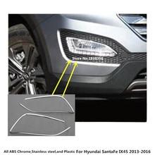 Per Hyundai Santa Fe IX45 2013 2014 2015 2016 stile auto anteriore testa della Luce di nebbia rivelatore della lampada telaio bastone ABS del bicromato di potassio copertura trim 2 pcs