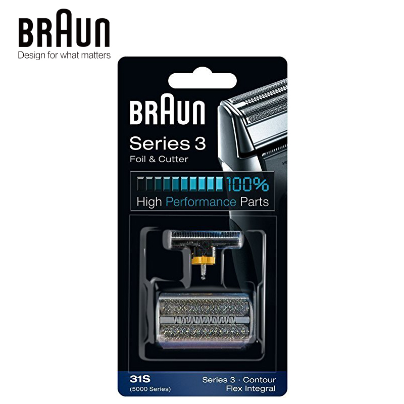 Braun 31S Electric Shaver Foil Cutter Replacement Razor Blade High Performance Parts for 350 360 370