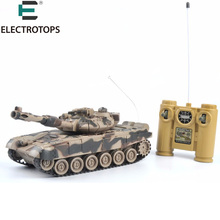 Promo ET RC tiger tank with fort rotate Fighting Tank Infrared Remote Control Track RC Battle Tank Cannon & Emmagee 801 802 803 804