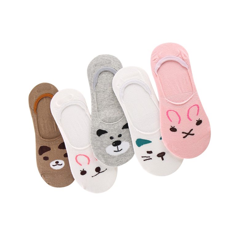 60 PAIR/LOT Summer Ankle Socks Women Comfortable Cotton Sock Funny Cute Socks slippers Female Socks