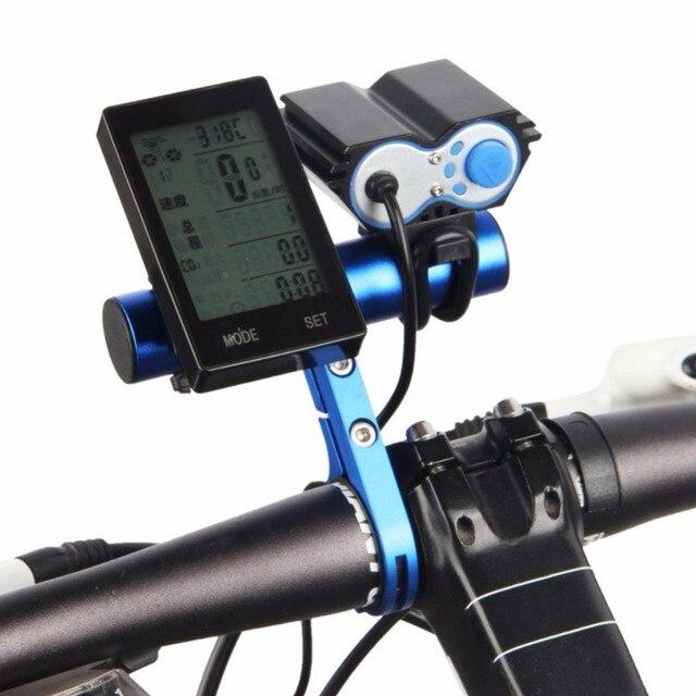 Vélo en alliage daluminium guidon support dextension 31.8mm support de lampe vélo boussole digitale 10cm/20cm pour vélo lumière ordinateur
