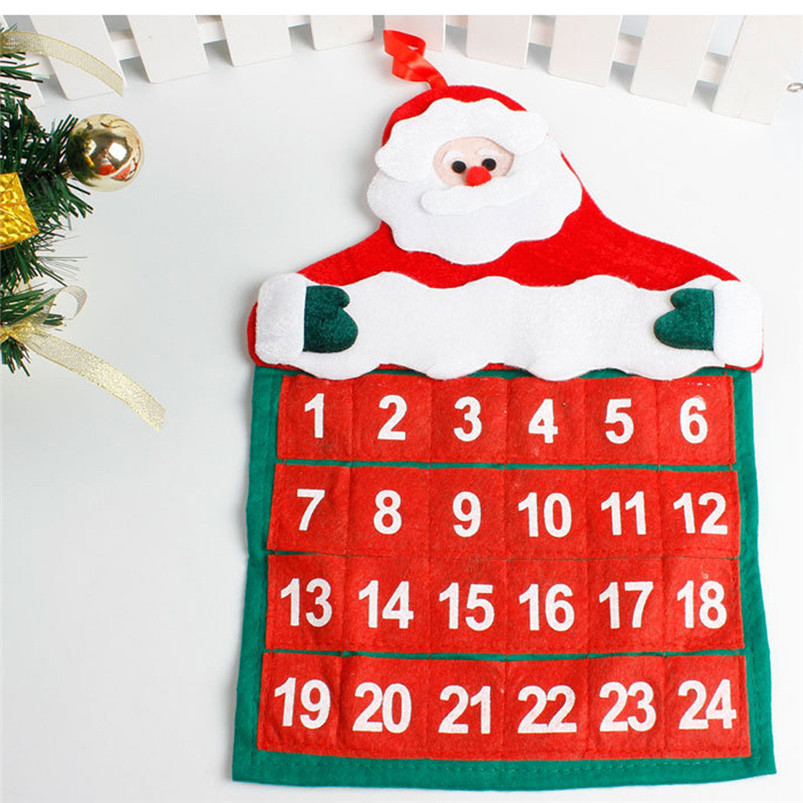 Christmas Mini Santa Claus Calendar 2019 Merry Christmas Decorations Xmas Ornament Home Family Pendant #4n06#f (2)