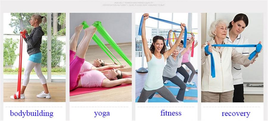 Fitness Elastic Band Indoor Pilates Rubber Resistance Bands Yoga Ribbon (2)