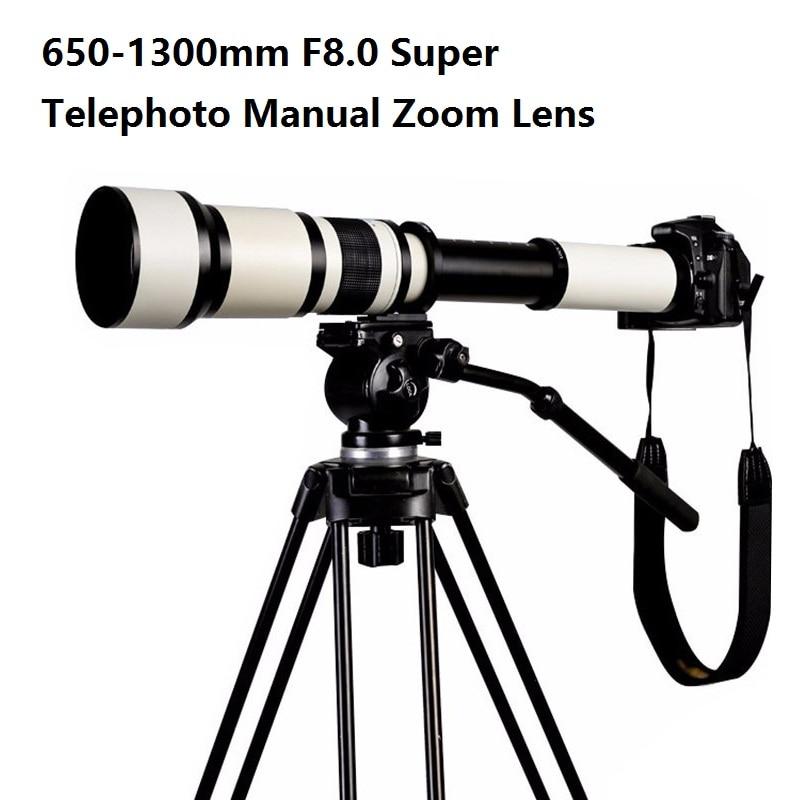 Lightdow 650-1300mm F8.0-F16 Súper teleobjetivo Zoom manual + T2 - Cámara y foto - foto 6