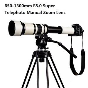 Image 5 - Lightdow 650 1300mm F8.0 F16 Super téléobjectif Zoom manuel + bague adaptateur T2 pour appareils photo reflex numériques Nikon Sony Pentax