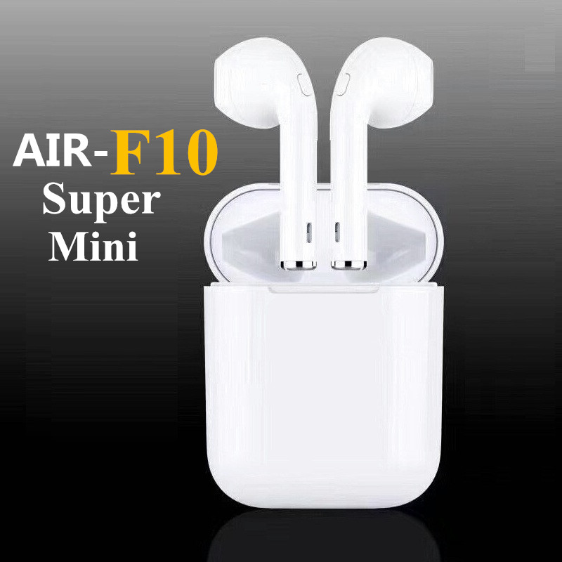 New F10 mini Bluetooth Earbuds double ear Wireless Headsets headphones wireless Air pods earphone For Andorid apple Iphone remax 2 in1 mini bluetooth 4 0 headphones usb car charger dock wireless car headset bluetooth earphone for iphone 7 6s android