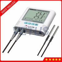 S500 DT 2 Sensor Double Channel Digital datalogger Temperature Recorder with LCD display Monitor Temperature Data Logger