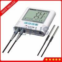 S500 dt 2 Сенсор двойной канальный цифровой регистратор Температура Регистраторы с ЖК дисплей дисплей Мониторы Температура Регистратор данны