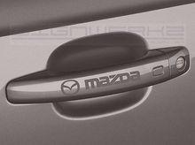 Mazda Door Handle Decal Sticker emblem mazda 3 mazda 6 cx-5 miata