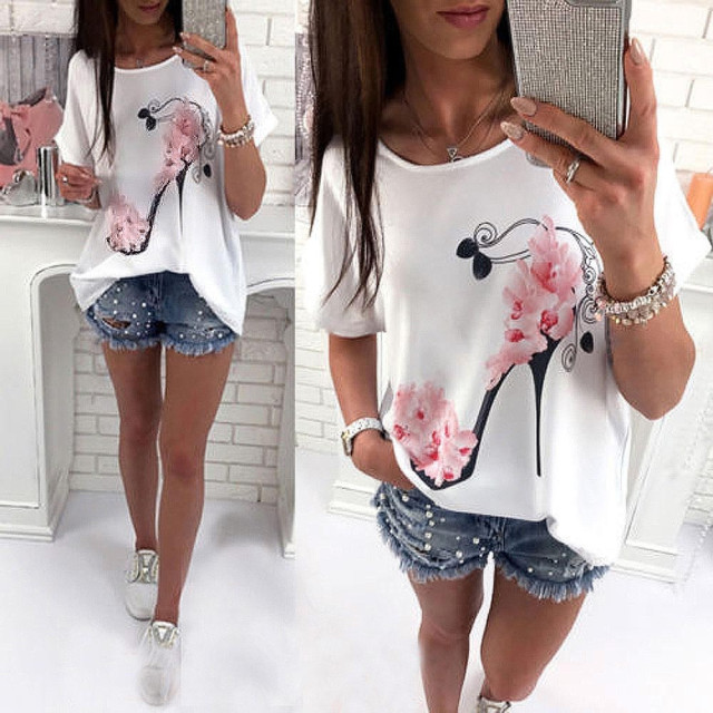 High Heels Printed Top