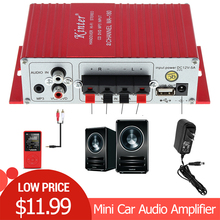Kinter MA-180 Mini USB Car Audio Amplifier 2CH Stereo HIFI Amplifier for Boat Amp:Red 12V Auto Power Amplifiers все цены