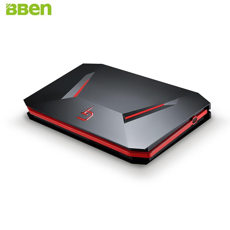 BBEN GB01 Mini PC NVIDIA GTX1060 GDDR5 Intel i7 7700HQ Win10 16 gb RAM 512g SSD pas de DISQUE DUR WiFi BT Boîte De Jeu de Jeu Ordinateur Mini Hôte
