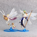 2 Estilos Monstro Digitais Digimon Angewomon Digimon Figura Angemon PVC Action Figure Toy Colletion Modelo Com Caixa de Varejo 22 CM