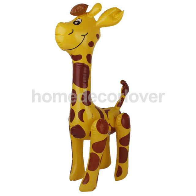 Yellow Dark Red Spots Inflatable Blow Up Giraffe Party Favors Kids Pool Toys