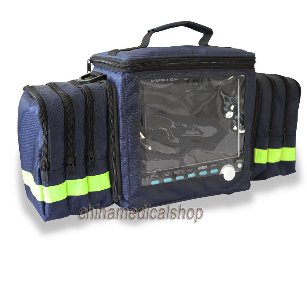 Free Shipping Handbag CONTEC ICU Patient Monitor Vital Signs Monitor CMS6000/ CMS6000-VET/CMS6000VET