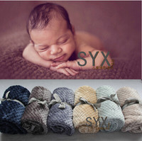 1250cmX1750cm Baby Posing Backdrop Super Soft Blanket Newborn photography props Does not include ribbon Photography props