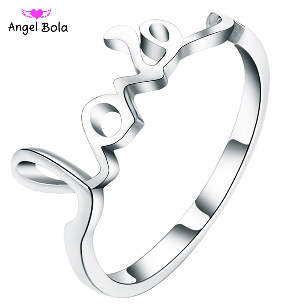 Love Design Hot Sale Fashion Lovers Ring For Valentines Gift 925 Sterling Silver Women Ring For Girls Gift R-020