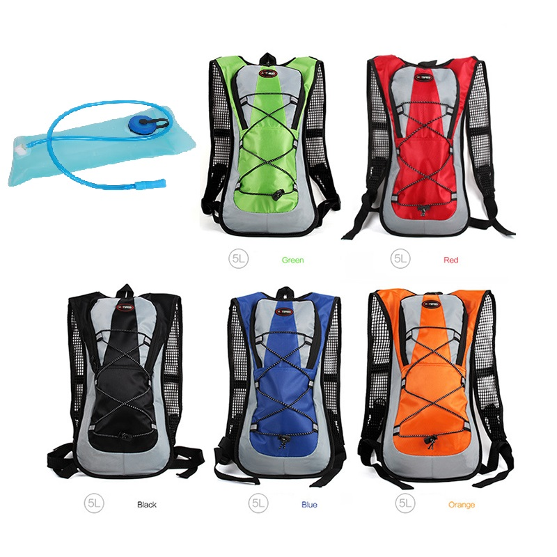 Outdoor Camping Fashion Water Bag Hydration Backpack For Hiking Riding Climbing Running Sports Water Pack Bladder Soft Flask