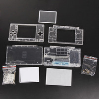 New Replacement Shell For Nintendo DS Lite Housing Shell Screen Lens Crystal Clear Full Housing Case