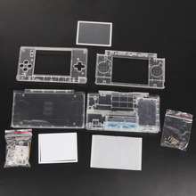 Vervanging Game Pads Case Shell Voor Nintend Ds Lite Behuizing Shell Screen Lens Crystal Clear Volledige Behuizing Voor Nintendo Dsl dsl