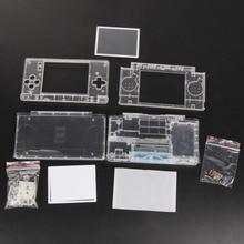 Wymiana Game Pads Case Shell dla Nintendo DS Lite obudowa obiektywu krystalicznie czyste pełna obudowa dla Nintendo DSL