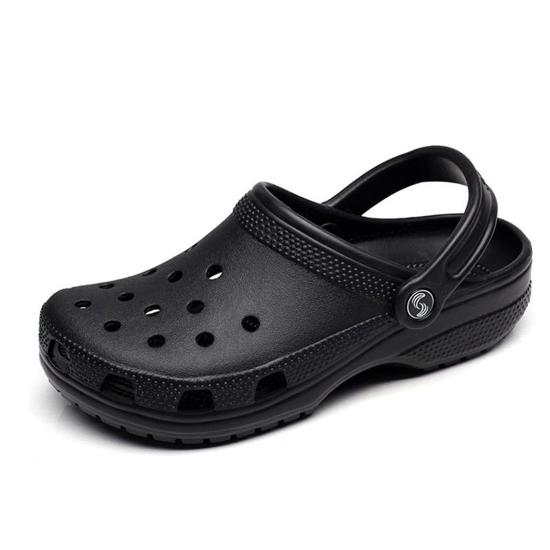 Dropshipping Men Sandals Slippers Shoes Beach Croc 2019 New Beach Sandals Casual Flat Slip On Flip Flops Men Hollow Shoes