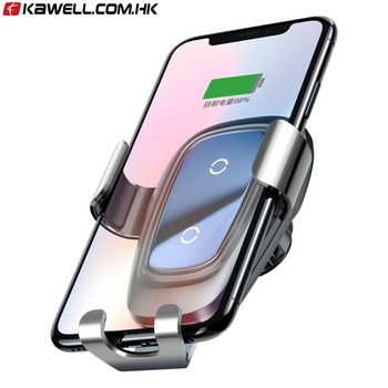 100 pcs a lot Qi Wireless Charger Car Holder Mobile Phone Holder Stand Air Vent Mount Car Phone Holder