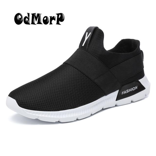 068ca7d7c751 ODMORP 2018 New Shoes Men Sneakers Summer Men Shoes Best Trends Trainers  Light Breathable Mesh Outdoor Shoes Plus size 39-46
